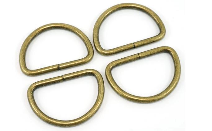 D-Rings Metal 38mm Antique Brass