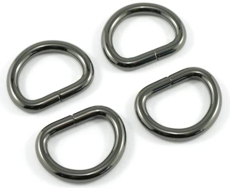D-Rings Metal 20mm Gunmetal