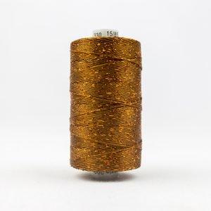 Thread Dazzle 8wt Rayon & Metallic 182m Acorn Brown