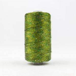 Thread Dazzle 8wt Rayon & Metallic 182m Avocado