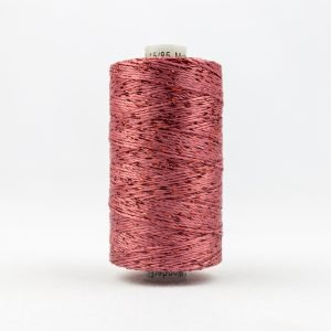 Thread Dazzle 8wt Rayon & Metallic 182m Coral Rose