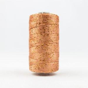 Thread Dazzle 8wt Rayon & Metallic 182m Dark Peach