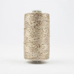Thread Dazzle 8wt Rayon & Metallic 182m Ecru