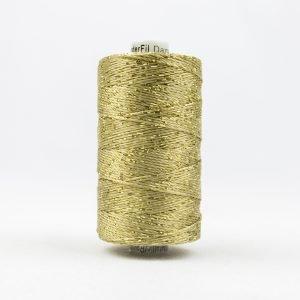 Thread Dazzle 8wt Rayon & Metallic 182m Gold