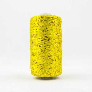 Thread Dazzle 8wt Rayon & Metallic 182m Lemon Yellow