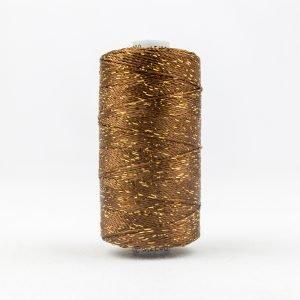 Thread Dazzle 8wt Rayon & Metallic 182m Nutmeg