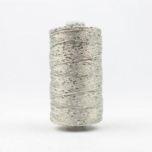 Thread Dazzle 8wt Rayon & Metallic 182m Silver