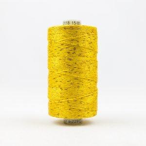 Thread Dazzle 8wt Rayon & Metallic 182m Sunny Yellow