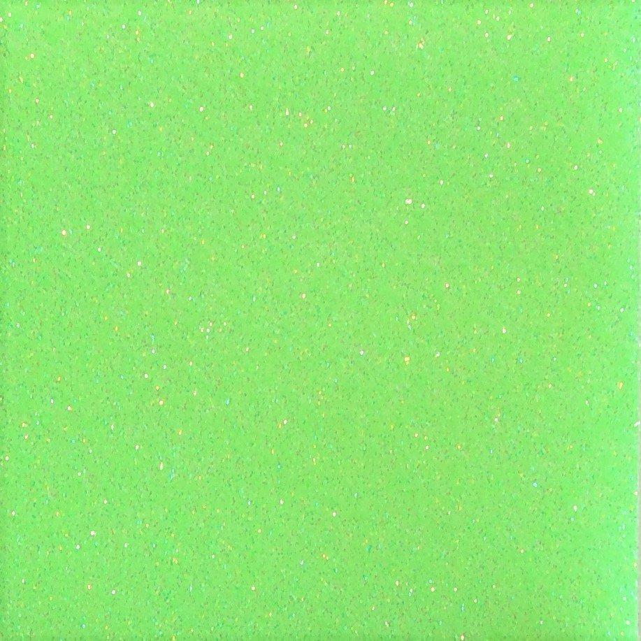 Heat Transfer Glitter Flake Fluorescent Green
