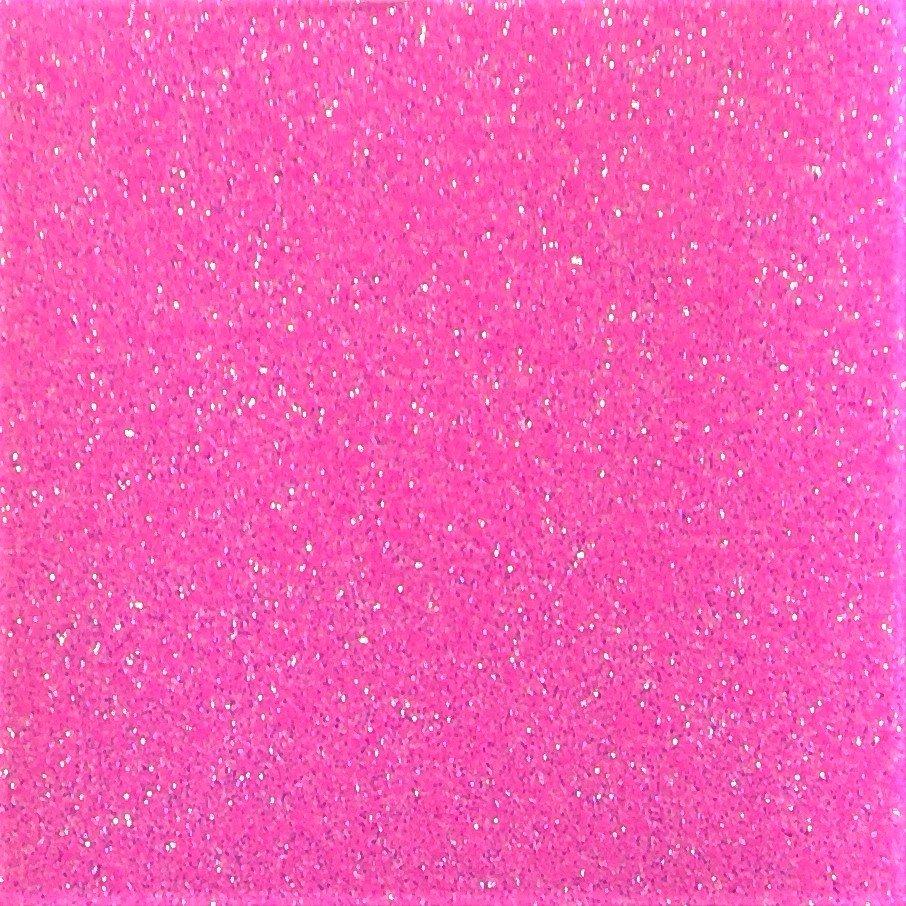 Heat Transfer Glitter Flake Fluorescent Pink