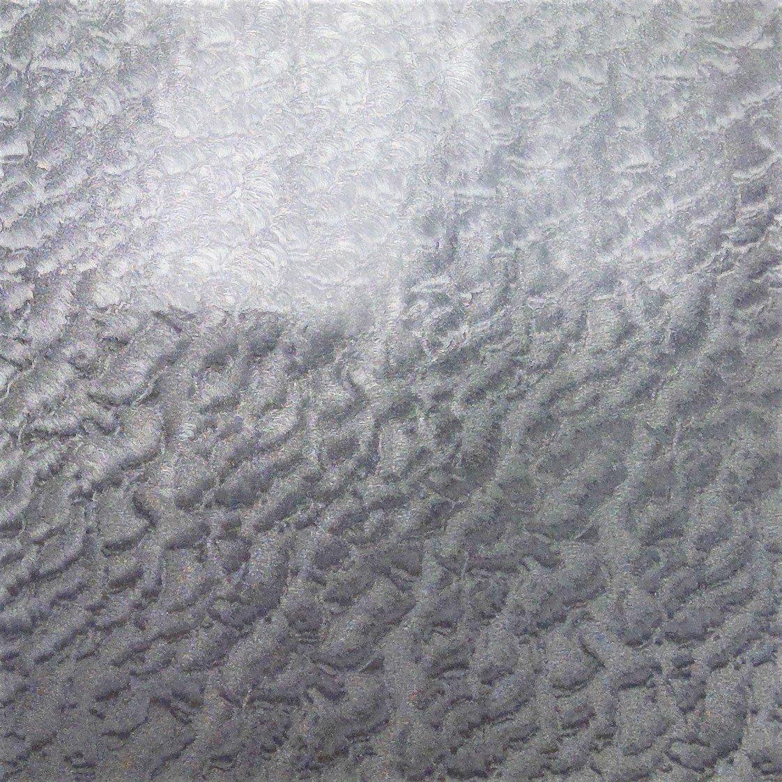 Pressure Sensitive Sign Vinyl Hammered Leaf Silver 12x12 Sheet