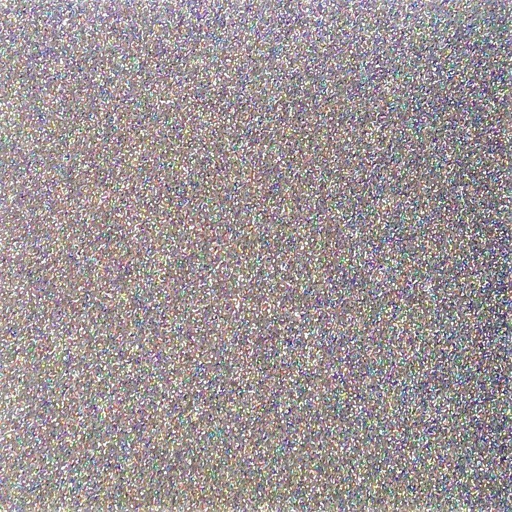 Heat Transfer Glitter Flake Hologram Silver