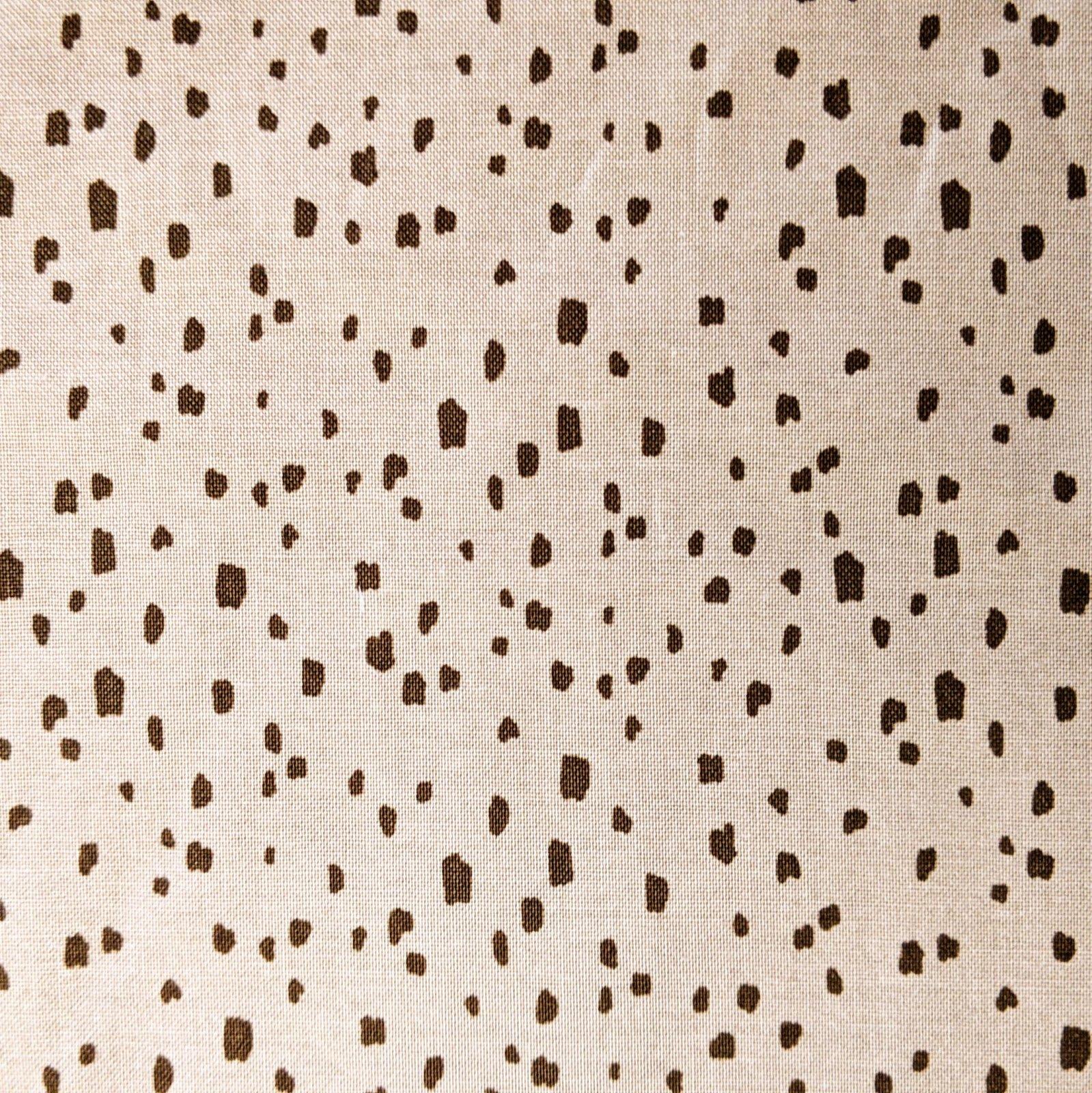 Broadcloth Print 100% Cotton Knock on Wood Dark Grey