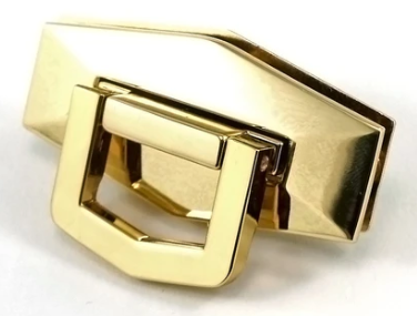Bag Closure Flip Lock Large Gold