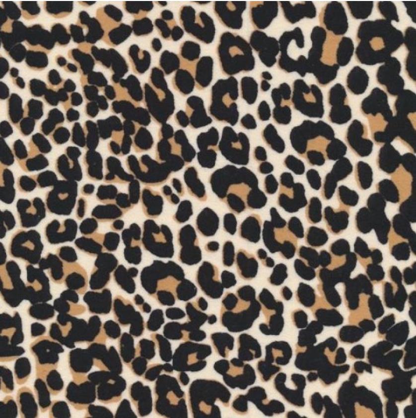 Flannel Print 100% Cotton Leopard Print
