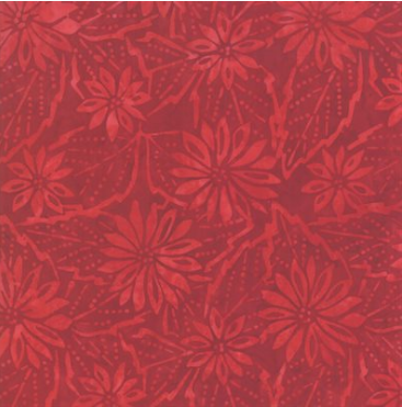 Batik 100% Cotton Aloha Batiks Red