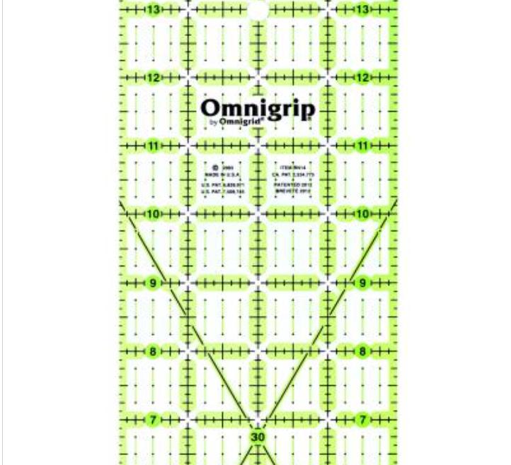 Omnigrid Ruler 4 x 14 Non-Slip