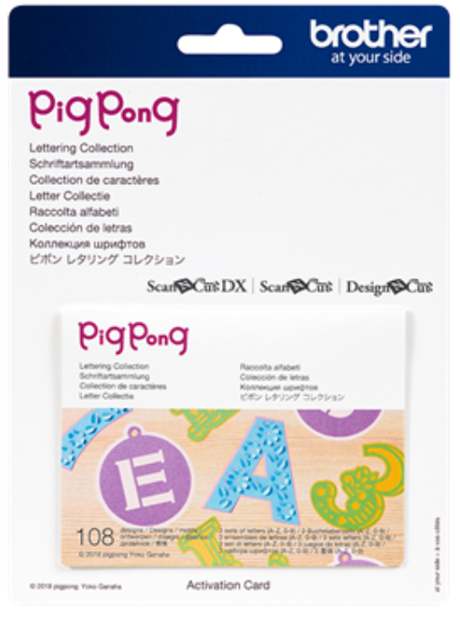 Pig Pong Lettering 1 Pattern Collection