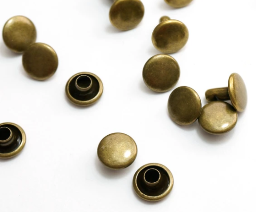 Rivets Double Cap 9mm Antique Brass