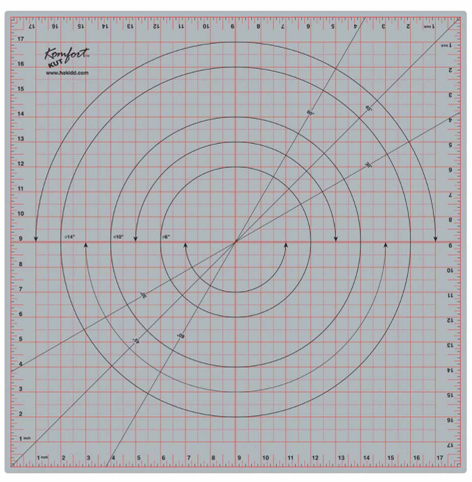 Rotating Cutting Mat, 18 x 18