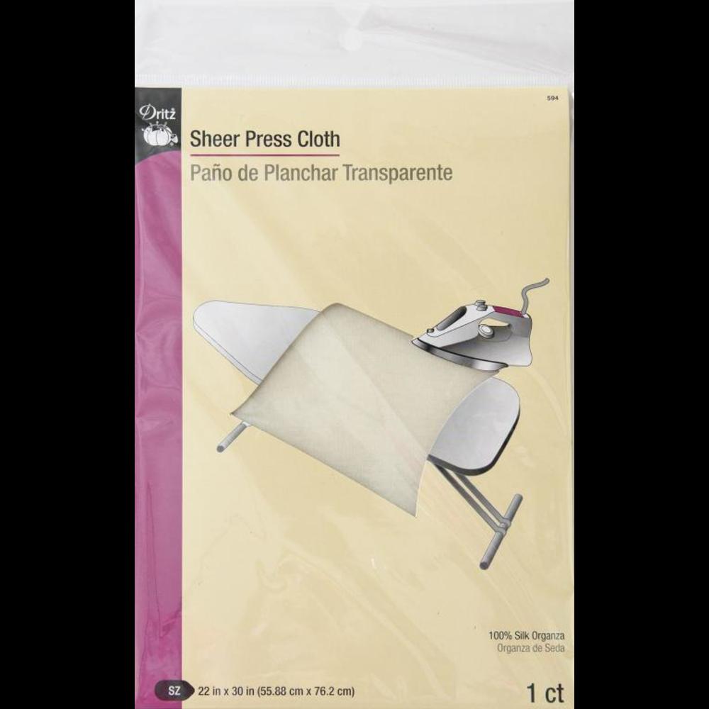 Sheer Press Cloth, Silk Organza 22x30