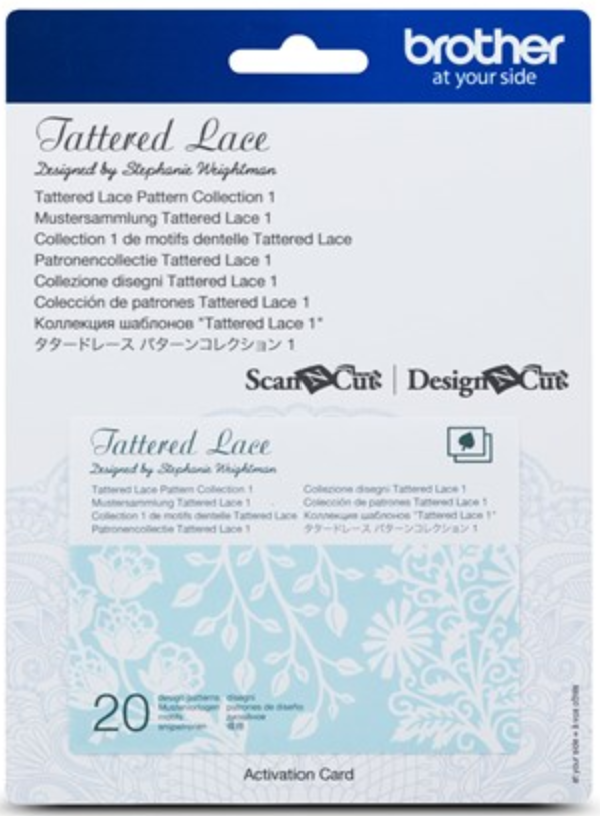 Tattered Lace Pattern Collection Activation Card