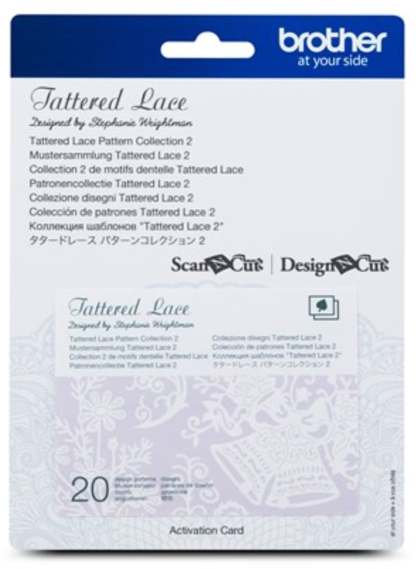 Tattered Lace 2 Pattern Collection Activation Card
