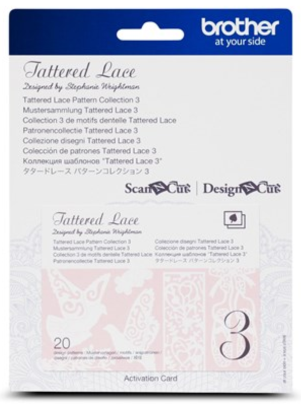 Tattered Lace 3 Pattern Collection Activation Card