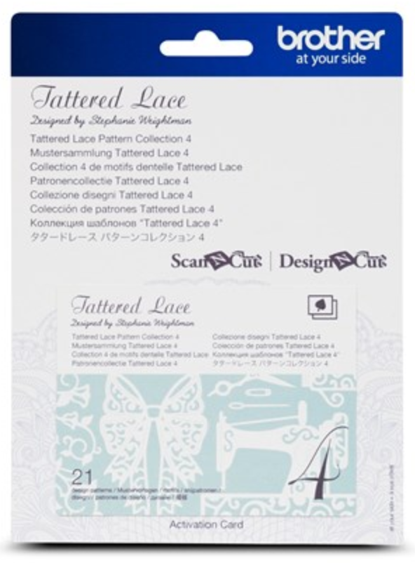 Tattered Lace 4  Pattern Collection Activation Card