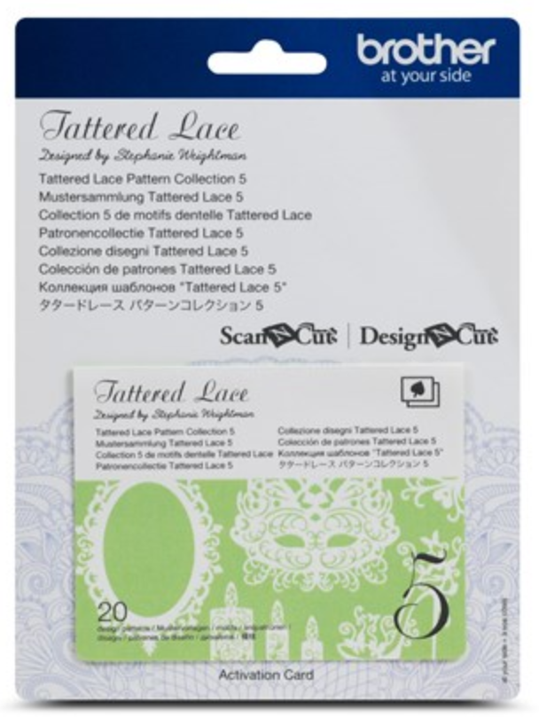 Tattered Lace 5 Pattern Collection Activation Card