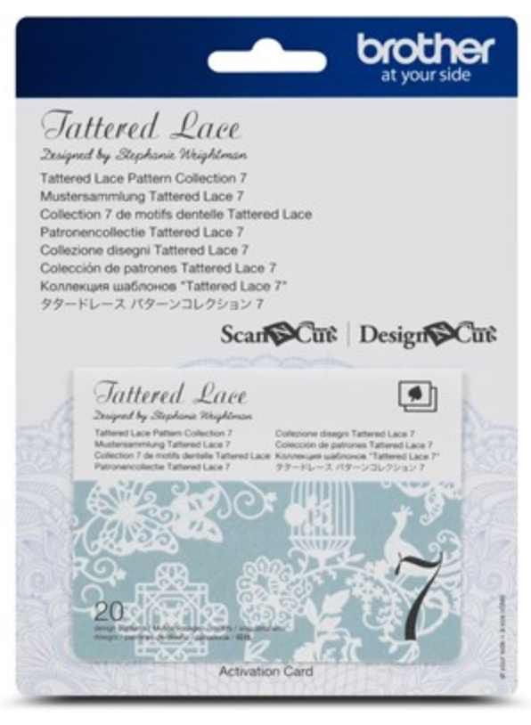 Tattered Lace 7 Pattern Collection Activation Card