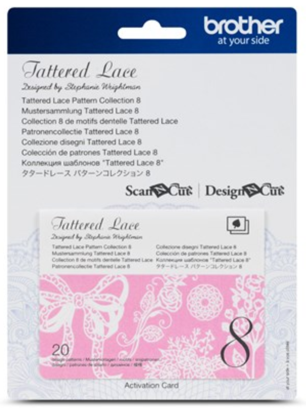 Tattered Lace 8 Pattern Collection Activation Card