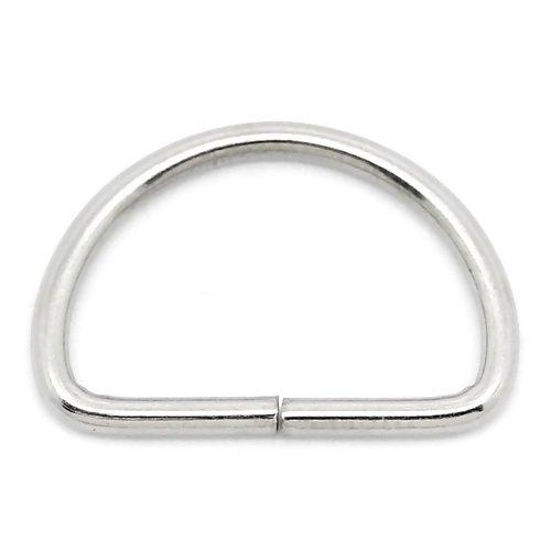 D-rings Metal, 13mm Silver 2-Pack