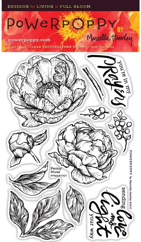 Power Poppy - Peony Muse Stamp Set