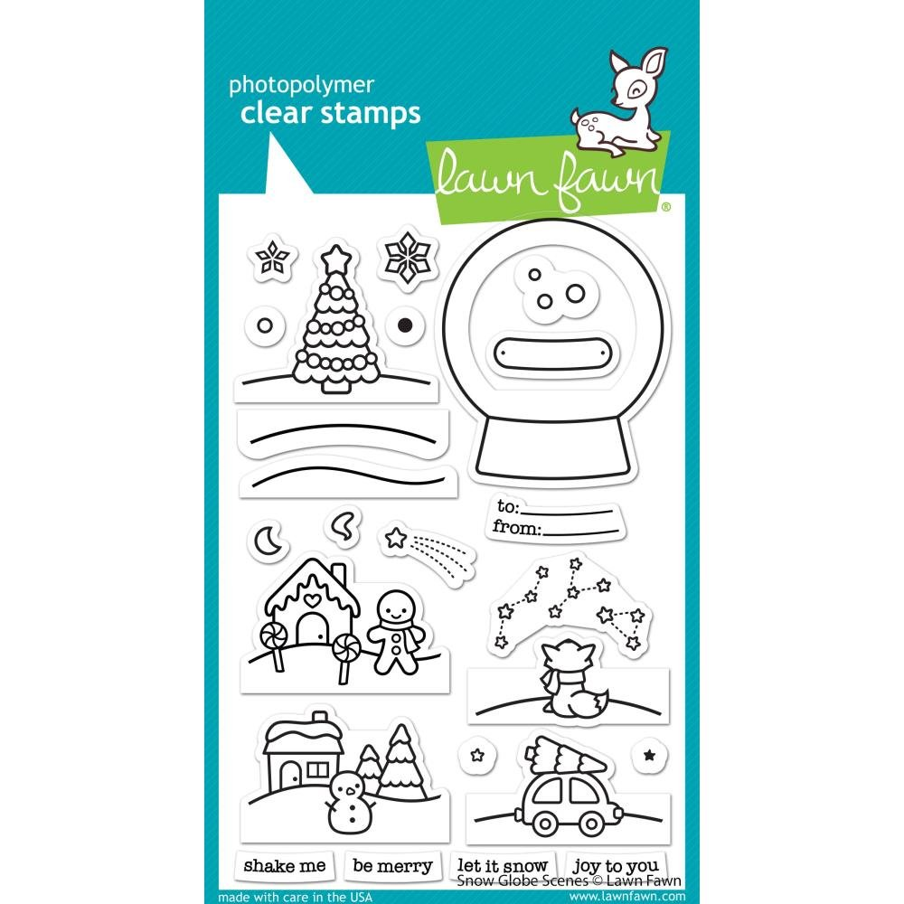 Lawn Fawn - Snow Globe Scenes Stamp Set