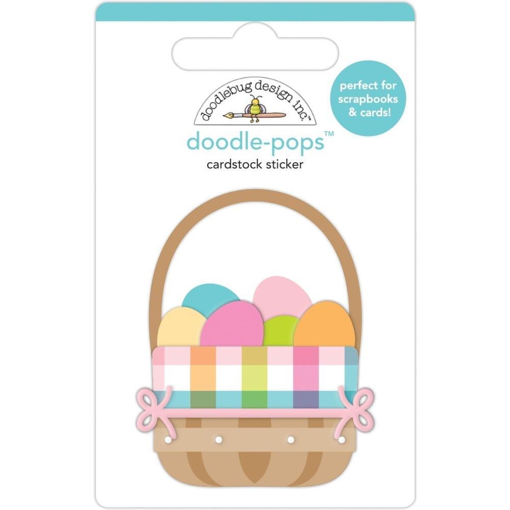 Doodlebug - Easter Basket Doodle-Pops 3D Sticker