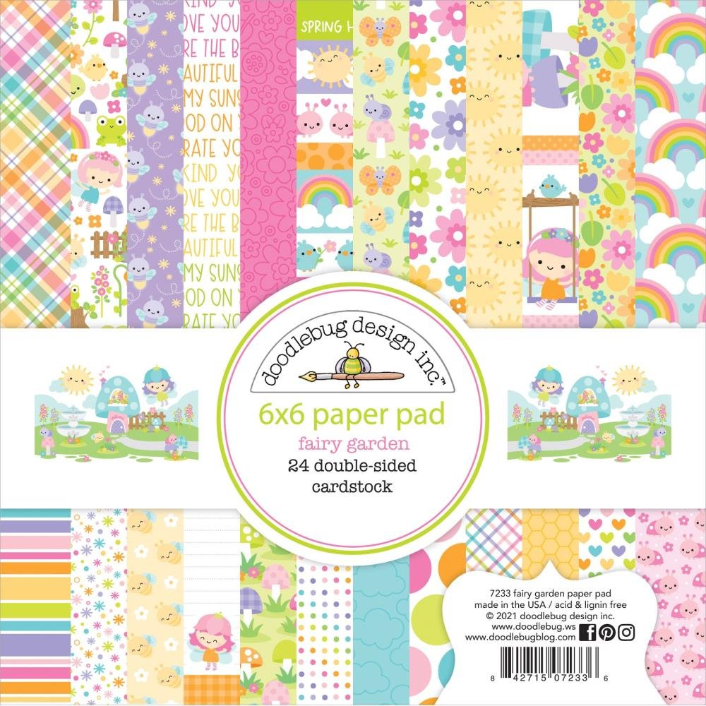 Doodlebug - Fairy Garden Double-Sided Paper Pad 6x6