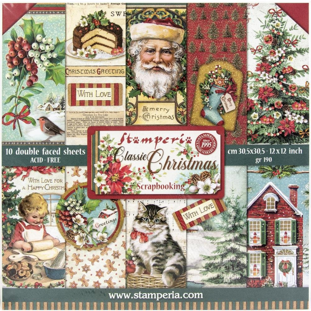 Stamperia - Classic Christmas Double-Sided Paper Pad 12x12