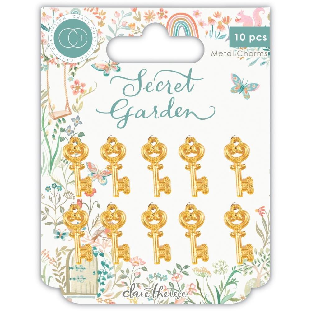 Craft Consortium - Secret Garden Metal Charms: Gold Key