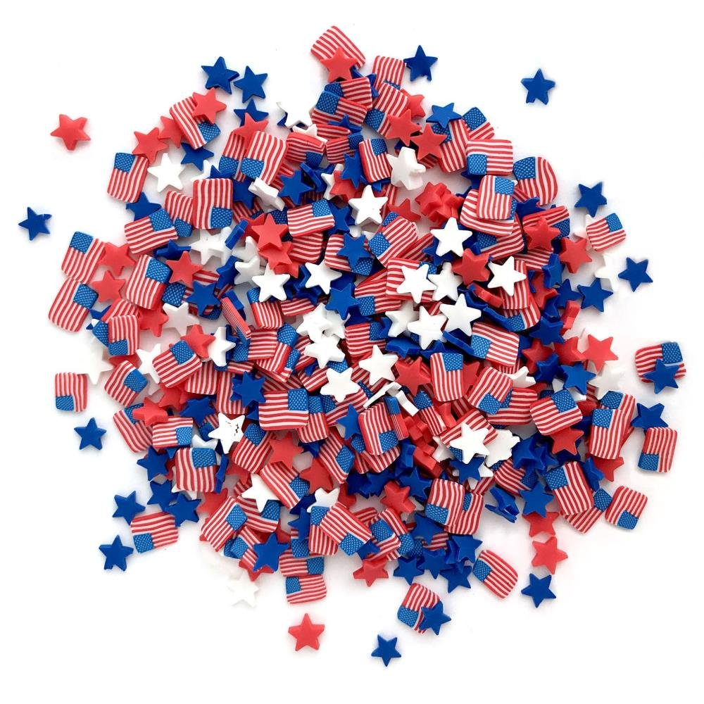 Buttons Galore - Old Glory Sprinkletz