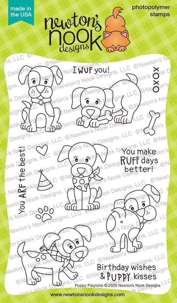 Newton's Nook - Puppy Playtime Stamp Set