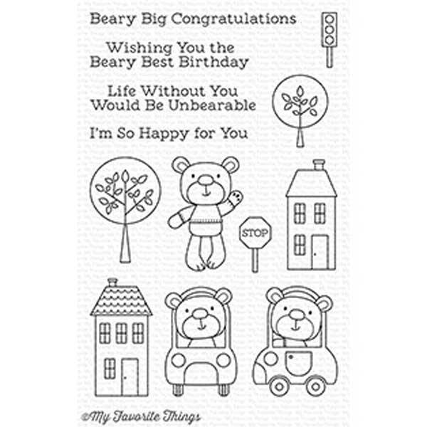 MFT - Town Bear Stamp/Die Set