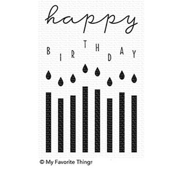 MFT - Happy Birthday Candles Stamp