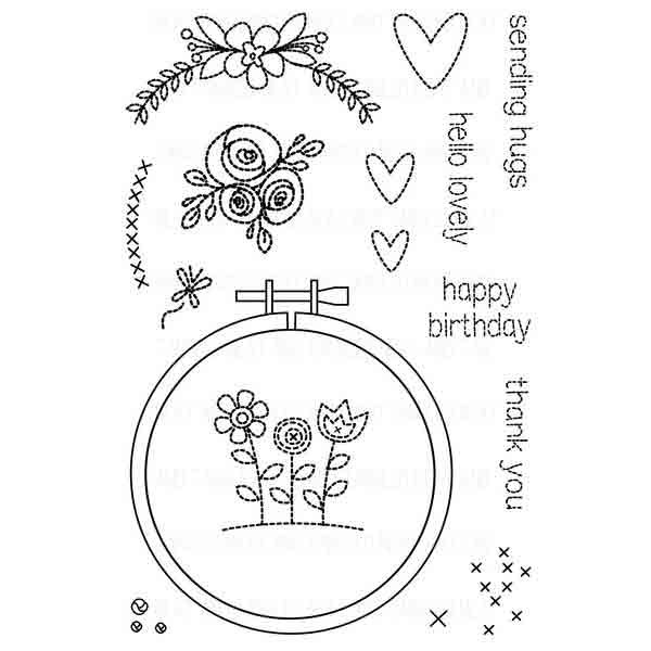 Neat & Tangled - Hand Stitched Stamp Set