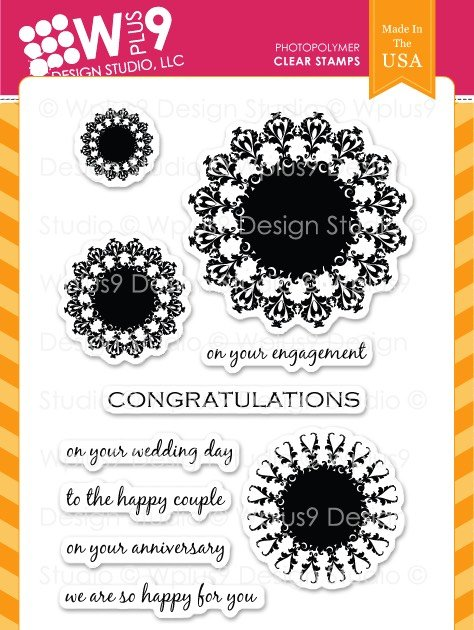 WPlus9 - Damask Doilies Stamp Set