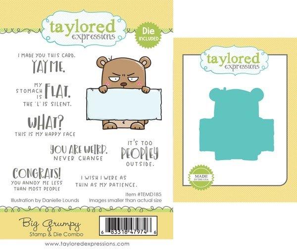 Taylored Expressions - Big Grumpy Coordinating Stamp & Die Set