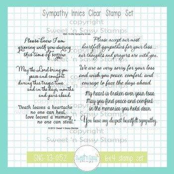 Sweet 'n Sassy - Sympathy Innies Stamp Set