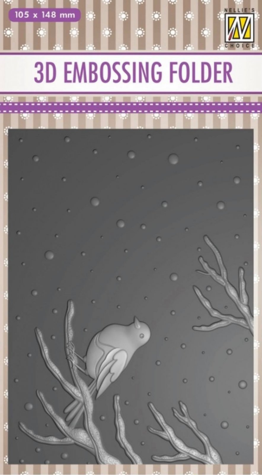 Nellie's Choice - Bird On A Branch Embossing Folder