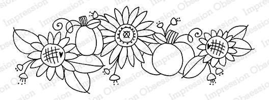 IO - Sweet Sunflowers Cling Stamp