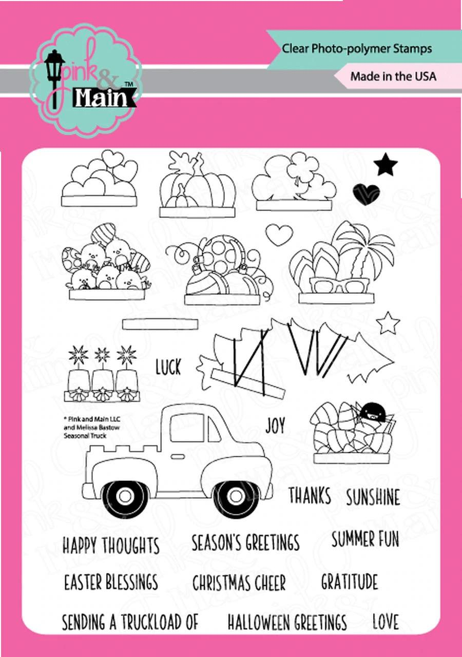 Pink & Main - Seasonal Truck Stamp/Die Set